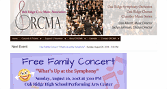 Preview of oakridgesymphony.org