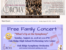 Tablet Preview of oakridgesymphony.org